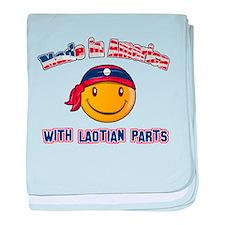 Laotian Smiley Designs baby blanket