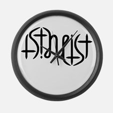 Atheist Either Way Large Wall Clock