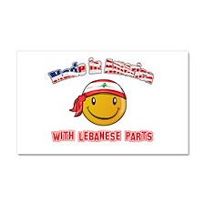 Lebanese Smiley Designs Car Magnet 20 x 12