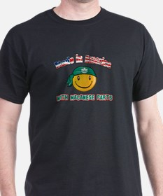 Macanese Smiley Designs T-Shirt
