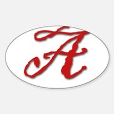 Red Letter A Decal