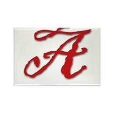 Red Letter A Rectangle Magnet