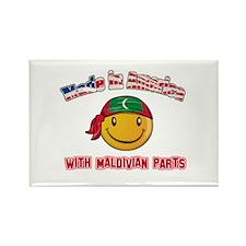 Maldivian Smiley Designs Rectangle Magnet