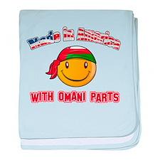 Omani Smiley Designs baby blanket
