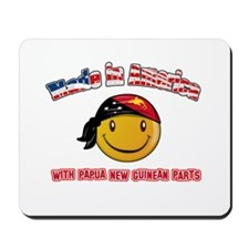 Papua New Guinean Smiley Designs Mousepad
