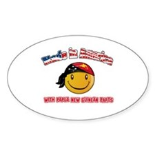 Papua New Guinean Smiley Designs Decal