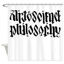 Art Science is Philosophy Shower Curtain