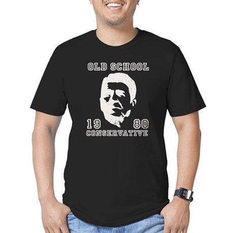 Old School Conservative Men's Fitted T-Shirt (dark