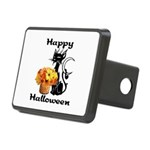 Halloween Black Cat Rectangular Hitch Cover