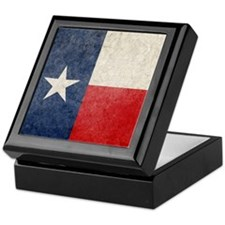 Faded Texas Flag Keepsake Box