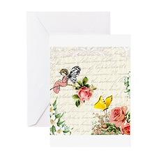 Vintage fairy garden Greeting Card