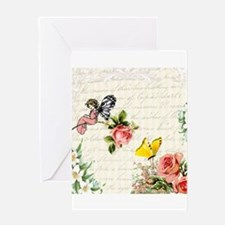 Vintage fairy garden Greeting Card