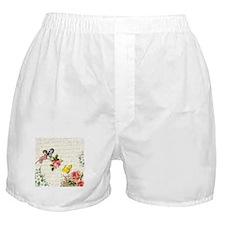 Vintage fairy garden Boxer Shorts