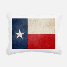 Faded Texas Flag Rectangular Canvas Pillow
