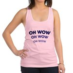 FIN-oh-wow.png Racerback Tank Top