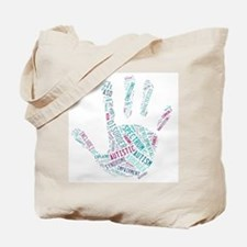 Autism Awareness - Talk To The Hand Tote Bag