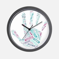 Autism Awareness - Talk To The Hand Wall Clock