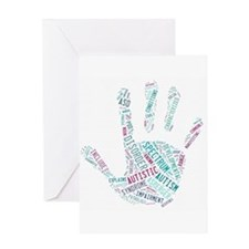 Autism Awareness - Talk To The Hand Greeting Card