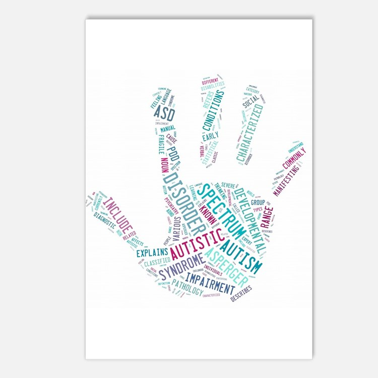 Autism Awareness - Talk To The Hand Postcards (Pac