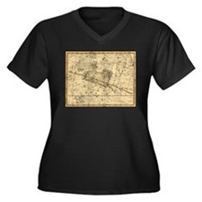 Vintage Aries Celestial Map Women's Plus Size V-Ne