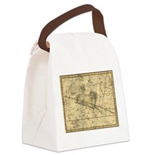 Vintage Aries Celestial Map Canvas Lunch Bag