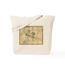 Vintage Aries Celestial Map Tote Bag