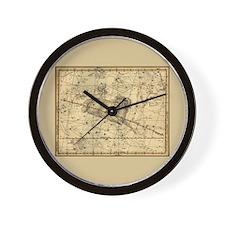 Vintage Aries Celestial Map Wall Clock