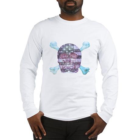 skull americana Long Sleeve T-Shirt