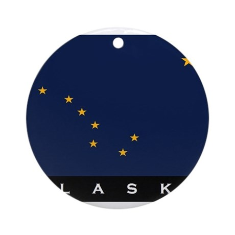 Alaska State Flag Ornament (Round)