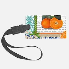 Vintage Orange Fruit Collage Luggage Tag