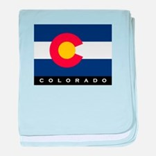Colorado State Flag baby blanket