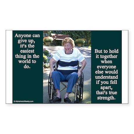 'True Strength' Sticker (Rectangle)