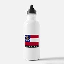 Georgia State Flag Water Bottle