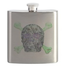 Skull money Flask