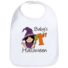 First Halloween Girl Bib