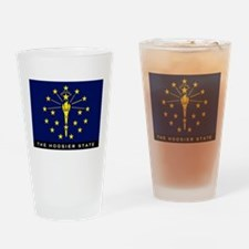 Indiana State Flag Drinking Glass