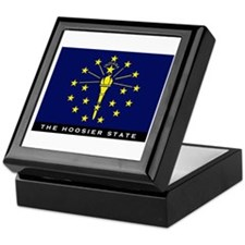 Indiana State Flag Keepsake Box