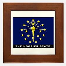 Indiana State Flag Framed Tile