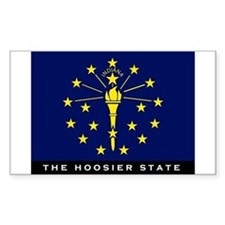 Indiana State Flag Decal