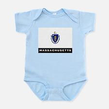 Massachusetts State Flag Infant Bodysuit