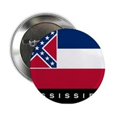 "Mississippi State Flag 2.25"" Button"