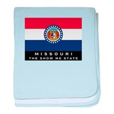 Missouri State Flag baby blanket