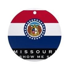 Missouri State Flag Ornament (Round)