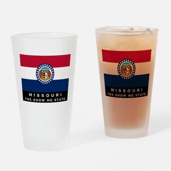 Missouri State Flag Drinking Glass
