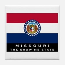 Missouri State Flag Tile Coaster