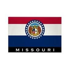 Missouri State Flag Rectangle Magnet