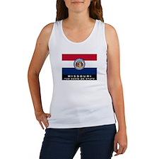 Missouri State Flag Women's Tank Top