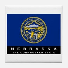 Nebraska State Flag Tile Coaster