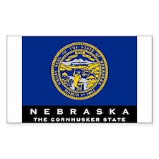 Nebraska State Flag Decal