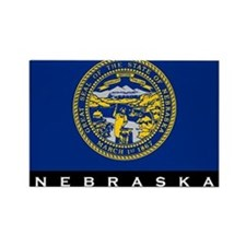 Nebraska State Flag Rectangle Magnet